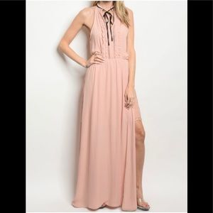 Strut And Bolt Large Laced Dress / Mini Skirt Pink